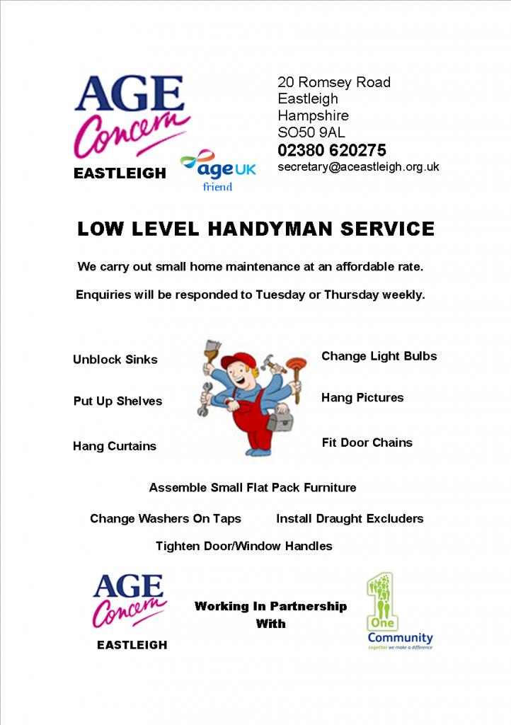 age concern handyman flyer