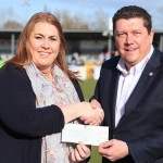 Eastleigh FC presents Cheque to Young Carers