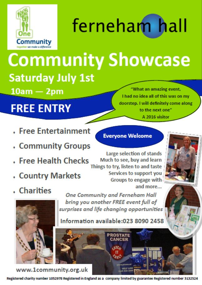 Community Showcase Flier