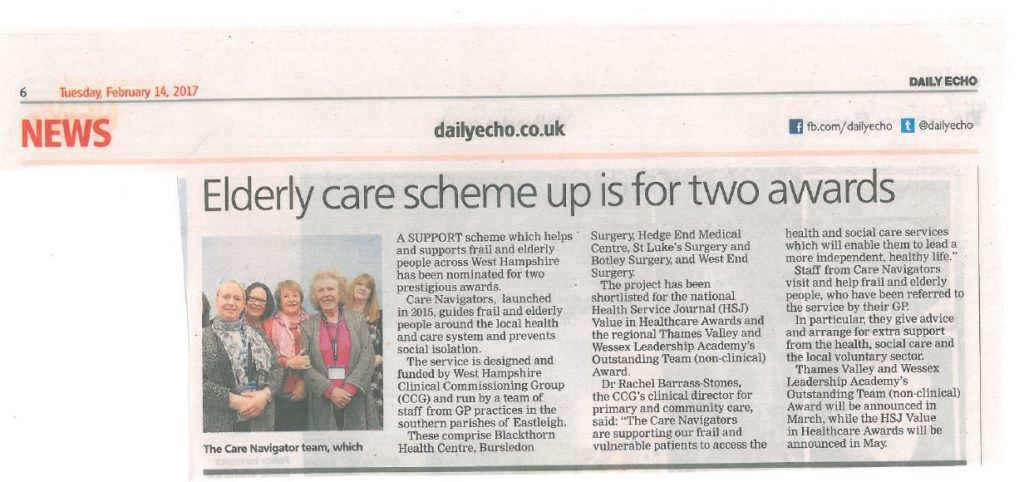 Care Scheme up for awards 2